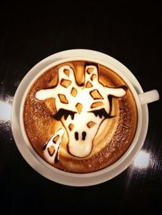 ❤ giraffe coffee