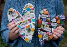 Whimsical Mosaic Heart with Personalized Sentiment MessageCustom Mosaic Wine Bottle Wall Art with Whimsical Message MADEThese whimsical mosaic hearts make a wonderful wedding gift or perfect idea for house warming, baby or anniversary gift. Mosaic Rocks, Mosaic Crosses, Mosaic Glass, Mosaic Tiles, Pebble Mosaic, Stained Glass, Mosaic Crafts, Mosaic Projects, Wine Bottle Wall