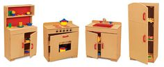 Lakeshore Hardwood Kitchen Set  The girls would love this!  #LakeshoreDreamClassroom