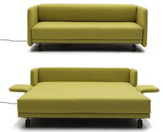 Furniture, Maximizing Small Spaces Using Modern Sleeper Sofa Queen With Green Fabric Cover And Fold Out Bed With Wheels Ideas ~ Modern Sleeper Sofa