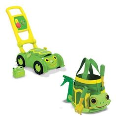 Melissa and Doug Tootle Turtle Mower And Tootle Turtle Tote Bundle by Melissa and Doug. $32.14. Cheerful Tootle Turtle character adds plenty of personality and cheer.. Sturdy plastic mower to encourage outdoor play and role-play activity.. Features storage compartment, clicking dials, plastic fuel can and pull-cord.. This Set Includes   * Melissa and Doug Tootle Turtle Mower  * Melissa and Doug Tootle Turtle Tote Set  Cheerful Tootle Turtle loves doing his yardwork. This ...