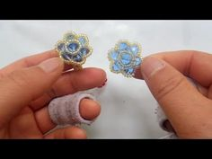 How to bead funny acceceroy: Ring Rose Clover - YouTube