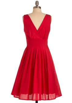 Yes, please. Red hot and so amazing. -Glamour Power to You Dress in Crimson
