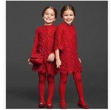2015 primavera e verão novo meninas vestido crianças roupas de bebê meninas laço vermelho vestido de meia manga vestidos(China (Mainland))