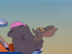 """Screencap Gallery for Dumbo Bluray, Disney Classics). The stork delivers a baby elephant to Mrs Jumbo, veteran of the circus, but the newborn is ridiculed because of his truly enormous ears and dubbed """"Dumbo"""". Old Disney, Vintage Disney, Disney Magic, Disney Art, Disney Movies, Disney Pixar, Dumbo Disney, Disney Tips, Disney Style"""
