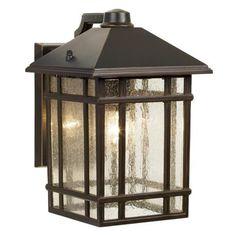 "Jardin du Jour Sierra Craftsman 11"" High Outdoor Wall Light | LampsPlus.com for front and back porch."