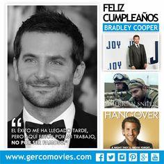 Hoy #BradleyCooper cumple 41 ¡Felicidades! Uno de los actores más atractivos del cine, nominado 4 veces por la Academia.