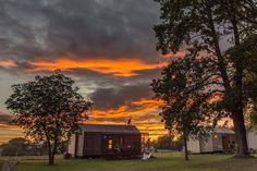 Beautiful #sunset above BIG BERRY resort Photo by @filiperemitaphotography #bigberry #hosekra #luxuryoffreedom #luxury #luxuryliving #resort #resortsummer #campsite #camping #glamping #belakrajina #BelaKrajina #kolpa #kolpariver #Nature #nature #trees #sky #clouds #cloudy #skyporn #skyline #ifeelslovenia #visitslovenia  #amazing #orange