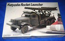 1984 Testors Italeri Russia WWII Katyusha Rocket Launcher Model Kit--NEW-1/35