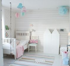 white with touches of light pink and light blue