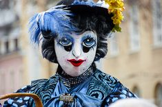 For Basel Fasnacht, several traditional costumes and masks are always on show. Basel, Halloween Face Makeup, Arts And Crafts, Costumes, Europe, Fictional Characters, Traditional, Carnavals, Kunst