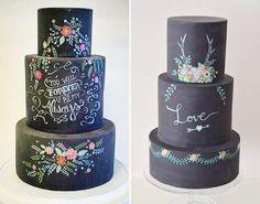 16 bolos de lousa para a festa de 15 anos - Constance Zahn | 15 anos Bolo Chalkboard, Big Day, Planter Pots, Wedding Ideas, Lettering, Party, Design, Pie Wedding Cake, 16 Cake