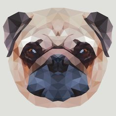 Polygonal Pug Dog