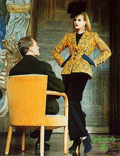 Karen Mulder  Yves Saint Laurent 1992