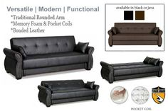 Modern Convertible Futon Sofa Bed Sleeper