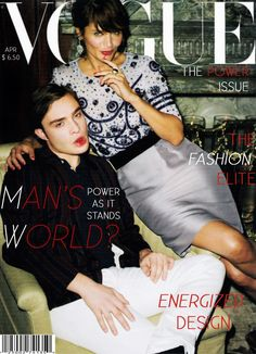 Helena Christensen covers Vogue US April 2009