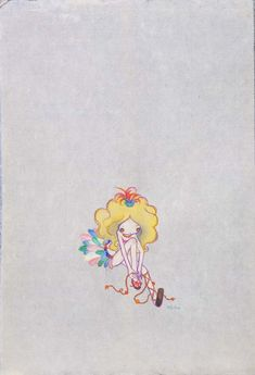 """Rinko going out"" (2007) Watercolor and pencil on paper 15.5 x 11.5 x 1.25 in  www.theartaffair.com #TaylorCollectionDenver"