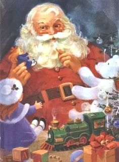 Santa+Claus+Paintings+Realistic | Old-Fashioned Santa Claus