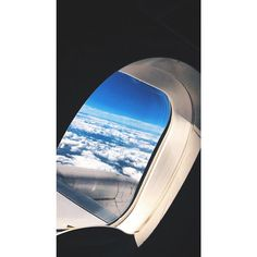 SKY HIGH! When I don't work for a week I actually get withdrawals from being sky high! I love the sensation of being up in the air and the view from the plane window! #dontsweatthestewardess #travel #blog #flightattendant #airplane #planewindow #skyhigh #white #clouds #aviation #letsflyaway
