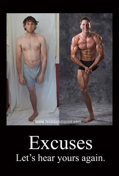 I have no excuse for not training