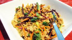 Spicy Peanut Quinoa Salad (Vegan, Gluten-Free). I love peanut sauce it will be great to try it in this dish!