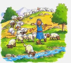 Jesus Cartoon, Cartoon Kids, Christian Cartoons, Sunday School Crafts For Kids, Sheep Paintings, The Lost Sheep, Bible Crafts, Bible Stories, Bible Lessons