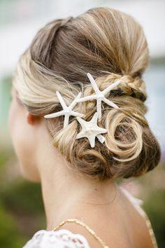 starfish hairpins made by CereusArt Beach Wedding Attire, Beach Wedding Hair, Bohemian Wedding Dresses, Destination Wedding, Beach Weddings, Beach Wedding Inspiration, Wedding Ideas, Wedding Planning, Beachwear For Women