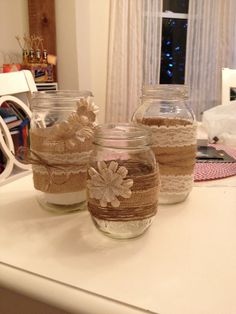 Mason jar decor! Simple inexpensive way to decorate!