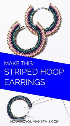 Dainty Silver Stud Earrings- minimal earrings/ modern studs/ simple earrings/ small stud earrings/ brithday gift/ gifts for her/ edgy studs - Fine Jewelry Ideas Amber Earrings, Seed Bead Earrings, Hoop Earrings, Heart Earrings, Seed Beads, Beaded Earrings Patterns, Beaded Jewelry, Heart Jewelry, Bracelet Patterns