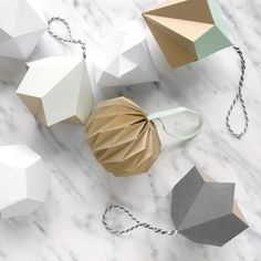 3D Geometric Paper Shape Decorations
