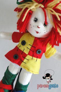 Boneca de Pano Emília 30 cm    ==> Valores Individuais, por boneca.  Opções de tamanho:  30 cm = R$ 114,00  40 cm = R$ 143,00  50 cm = R$ 168,00  60 cm = R$ 188,00  -> Para comprar um boneco do tamanho diferente do anunciado, basta informar nas observações e o valor é alterado antes do pagamento....