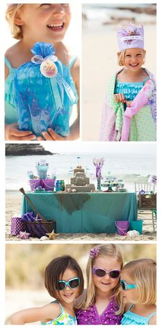 mermaid birthday party!!! Too cute!
