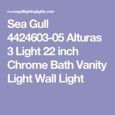 Sea Gull 4424603-05 Alturas 3 Light 22 inch Chrome Bath Vanity Light Wall Light