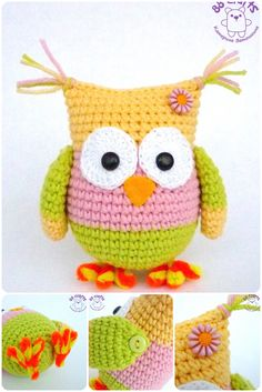 Grab this Super Cute FREE Owl Amigurumi Crochet Pattern. : Grab this Super Cute FREE Owl Amigurumi Crochet Pattern. Browse more Owls and other Animal Patterns and many other Genres Owl Crochet Patterns, Crochet Birds, Owl Patterns, Cute Crochet, Crochet Animals, Crochet Crafts, Yarn Crafts, Crochet Baby, Crochet Projects