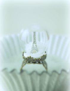 beautiful effel tower ring: Winter in Paris by DIVINEsweetness