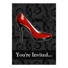 Sassy Red Shoe Invitation