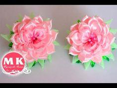 Мастер-класс Канзаши. Розы из атласных лент.Резинки для волос/DIY.Roses of satin ribbons - YouTube