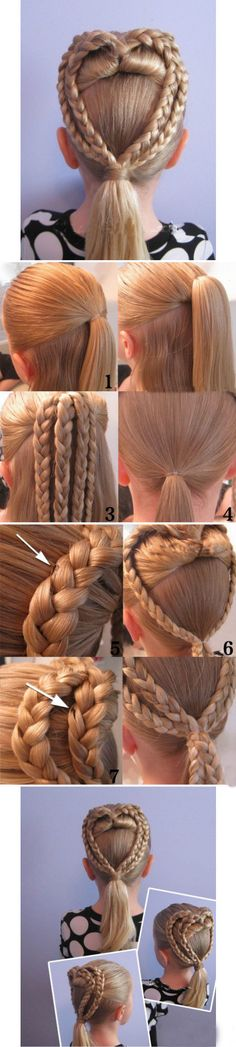 DIY Heart Braid .... LOVE THIS!!