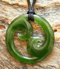 A hand crafted jade double Koru necklace carved by Ross Crump and in three sizes. It includes a platted waxed braid cord with hand carved jade toggle, a traditional woven presentation case and a detai Ethnic Jewelry, Jade Jewelry, Gemstone Jewelry, Custom Jewelry, Handmade Jewelry, Maori Symbols, Maori Designs, Maori Art, White Topaz Rings
