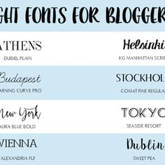 EIGHT FONTS FOR BLOGGERS