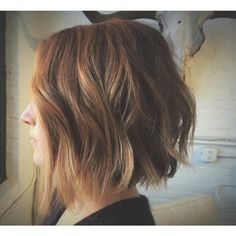 Choppy bobs are my fav thanks @amandaknorr. Color by @patty.martin.hair cut and style by me