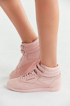 57474f35790 Reebok Freestyle high tops in pretty pink!