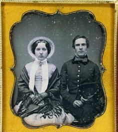 (c. 1840s) US Soldier with wife or other female relative.