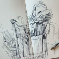 Thomas Cian Yesterday at the airport . Bordeaux  #illustration #DRAWING #sketch…
