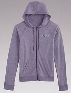 This little cotton zip-up is just waiting for you - and it's a great spring color :) #hoodie #ootd #aqha #aqhaproud #zipup #horses #underarmour