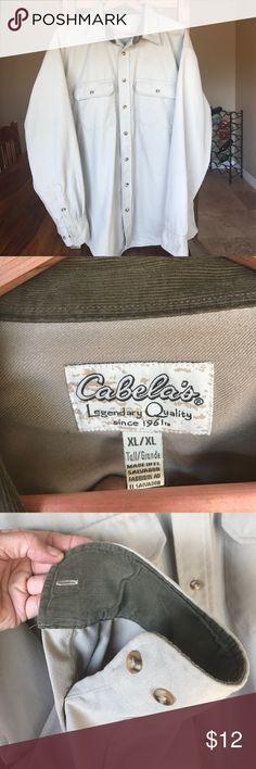 Cabela's Men's Heavyweight Button-down Shirt Cabela's Men's Heavyweight Button-down Shirt. Size XL Cabela's Shirts Casual Button Down Shirts
