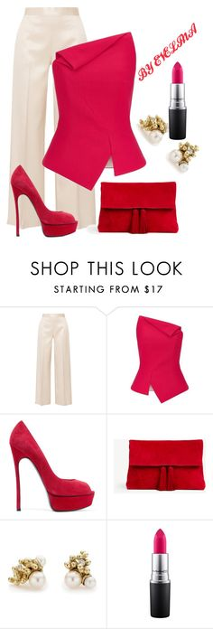 """""""EVE"""" by evelina-er ❤ liked on Polyvore featuring The Row, Roland Mouret, Casadei, Ann Taylor, Ruth Tomlinson and MAC Cosmetics"""