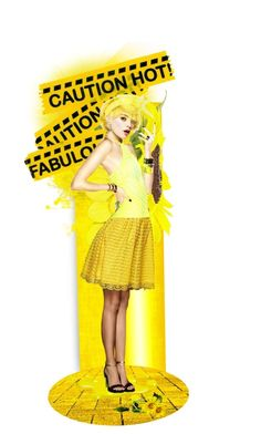 """""""Caution...Hot Stuff"""" by likepolyfashion ❤ liked on Polyvore featuring art and dollset"""