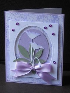 Try sponging the background color Purple Edged Poppies by jdmommy - Cards and Paper Crafts at Splitcoaststampers Homemade Birthday Cards, Homemade Cards, Memory Box Cards, Memory Box Dies, Cool Cards, 3d Cards, Card Tags, Card Kit, Poppy Cards
