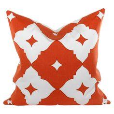 Annette Orange Pillow #zincdoor #colorcrave #hermes #orange